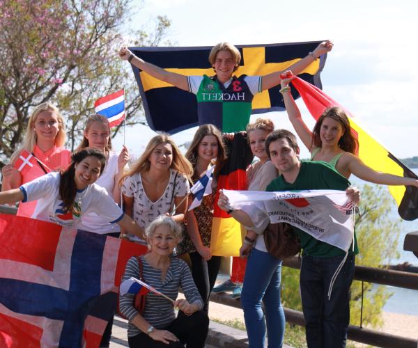 Jeunes étudiants étrangers en séjour d'immersion