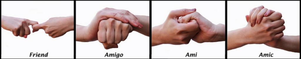 Main amitié langues étrangères
