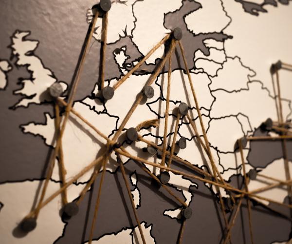 Carte d'europe thème voyage