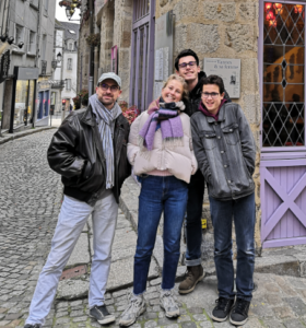 Mikaël, Marie, Axel et Nathan
