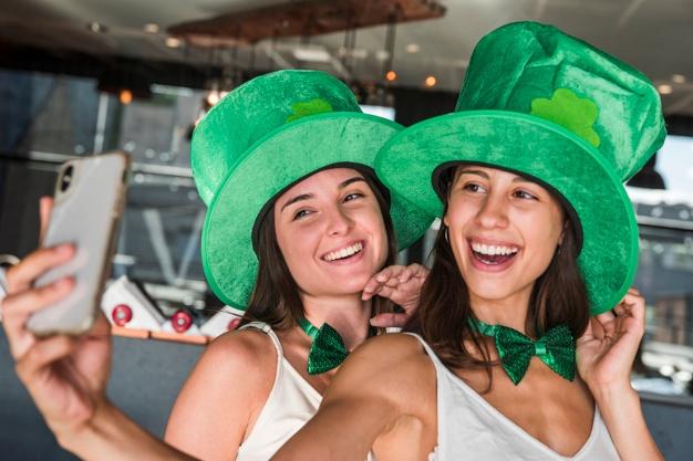 St Patrick Fête Irlande Vert Trèfles